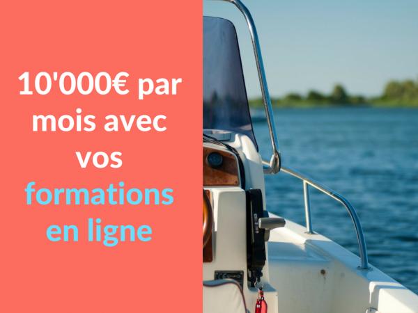 Miniature - 10'000 euros par mois avec vos formations en ligne