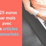 Miniature - 425 euros par mois avec les articles sponsorises
