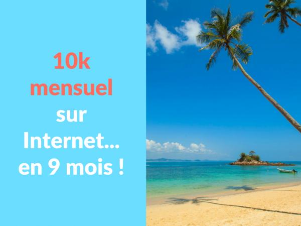 Miniature - 10k mensuel sur Internet en 9 mois